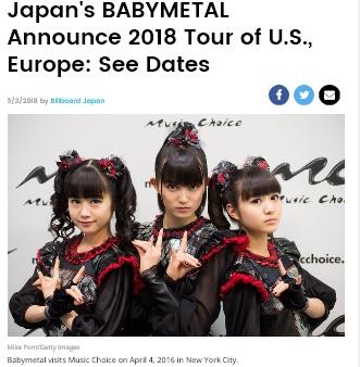Babymetal tour dates
